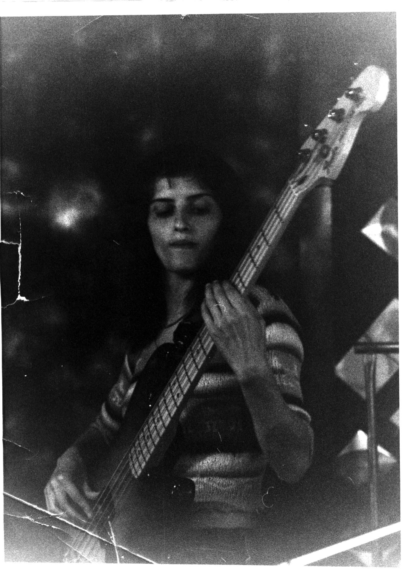 Lesley Bellestar- my first student-great bassist and successful pop star